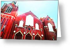 The Red Church By Sharon Cummings Greeting Card by Sharon Cummings