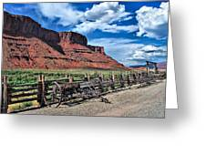 The Red Cliffs Greeting Card by Gregory Ballos