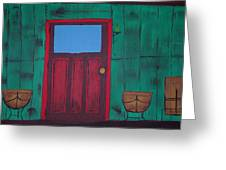 The Red Door Greeting Card by Keith Nichols