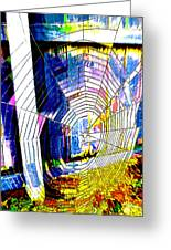 The Refracted Cobweb Greeting Card by Steve Taylor