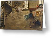 The Rehearsal, C.1877 Greeting Card by Edgar Degas