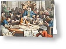 The Reward Of Cruelty, From The Four Greeting Card by William Hogarth