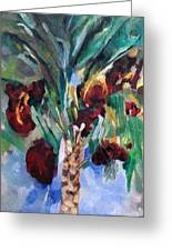 The Righteous Will Flourish Like The Date Palm Tree Greeting Card by David Baruch Wolk