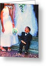 The Ring Bearer Greeting Card by Jeff Breiman