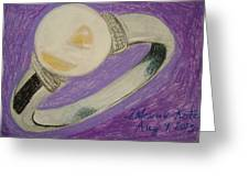 The Ring Greeting Card by Fladelita Messerli-