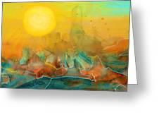 The Rising Sun Greeting Card by Sandi OReilly