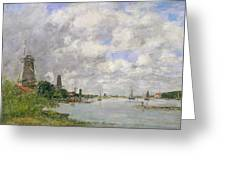 The River Meuse At Dordrecht Greeting Card by Eugene Louis Boudin