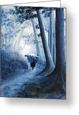 The Road Home Greeting Card by Donna Walsh