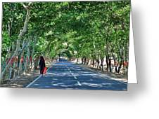 The Road To Amarkantak - Amarkantak India Greeting Card by Kim Bemis