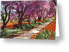The Road To Giverny Greeting Card by David Lloyd Glover