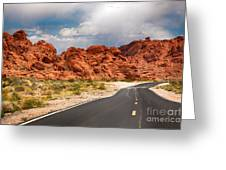 The Road To The Valley Of Fire Greeting Card by Jane Rix