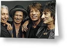 The Rolling Stones Artwork 1 Greeting Card by Sheraz A