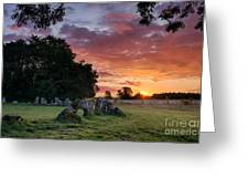 The Rollright Stones Sunrise Greeting Card by Tim Gainey