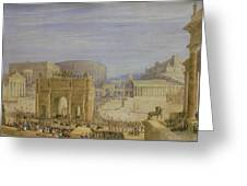 The Roman Forum Greeting Card by Francis Vyvyan Jago Arundale