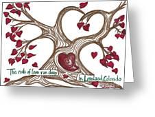The Roots Of Love Greeting Card by Minnie Lippiatt
