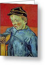 The Schoolboy Greeting Card by Vincent Van Gogh