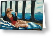 The Sea Princess - Original Sold Greeting Card by Therese Alcorn