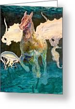 The Seahorse Greeting Card by Henryk Gorecki