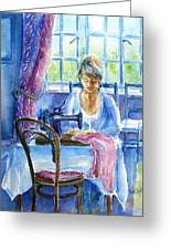 The Seamstress Greeting Card by Trudi Doyle