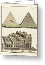 The Seven Wonders Of The World Greeting Card by Splendid Art Prints