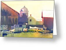 The Side Of A Barn Greeting Card by Kris Parins