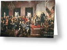 The Signing Of The Constitution Of The United States In 1787 Greeting Card by Howard Chandler Christy