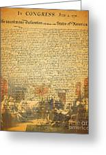 The Signing Of The United States Declaration Of Independence Greeting Card by Wingsdomain Art and Photography