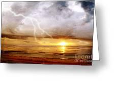 The Sky Cracked Greeting Card by Dirk Wuestenhagen
