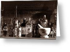 The Snake Oil Shop Greeting Card by American West Legend By Olivier Le Queinec