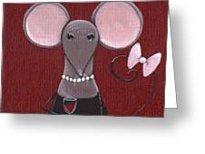 The Socialite  Greeting Card by Christy Beckwith