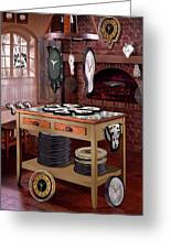 The Soft Clock Shop Greeting Card by Mike McGlothlen