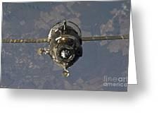 The Soyuz Tma-19 Spacecraft Greeting Card by Stocktrek Images