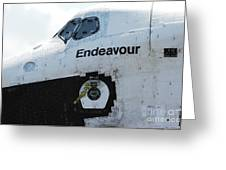 The Space Shuttle Endeavour 2 Greeting Card by Micah May