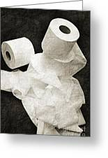 The Spare Rolls 1 - Toilet Paper - Bathroom Design - Restroom - Powder Room Greeting Card by Andee Design