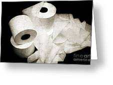 The Spare Rolls 2 - Toilet Paper - Bathroom Design - Restroom - Powder Room Greeting Card by Andee Design