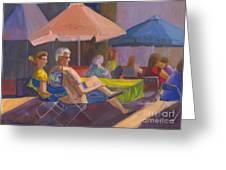 The Spectators Greeting Card by Sandy Linden