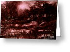 The SPRING EEL FLOODING or Red and Green Don't make Brown Greeting Card by Charlie Spear
