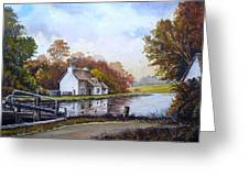The Staffordshire And Worcestershire Canal Greeting Card by Andrew Read