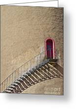 The Staircase To The Red Door Greeting Card by Heiko Koehrer-Wagner