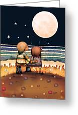The Stars The Moon And The Tide Greeting Card by Karin Taylor