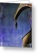 The Steam Crane Greeting Card by Brian Roscorla