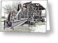 The Steam Shovel Greeting Card by Glenn McCarthy Art and Photography