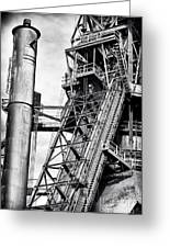 The Steel Mill Greeting Card by John Rizzuto
