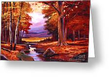 The Stillness Of Autumn Greeting Card by David Lloyd Glover