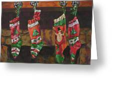 The Stockings Greeting Card by Gloria  Nilsson