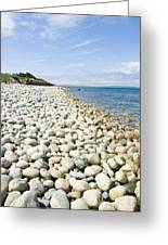 The Stones On Beach Greeting Card by Boon Mee