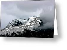 The Storm Rolls Into Glacier Bay Greeting Card by John Haldane