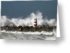 The Storm Wave Greeting Card by Boon Mee
