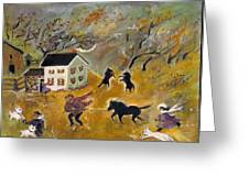 The Storms Comin' Greeting Card by Barbara LeMaster