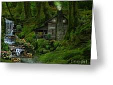 The Summer Cottage Greeting Card by Lynn Jackson